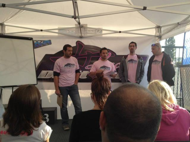 nos juges en tee-shirts rose de circonstance !