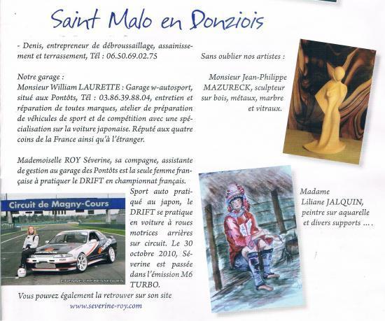 Livré Comice en Donziais 2011 distribué dans 10 communes de la Nièvre.