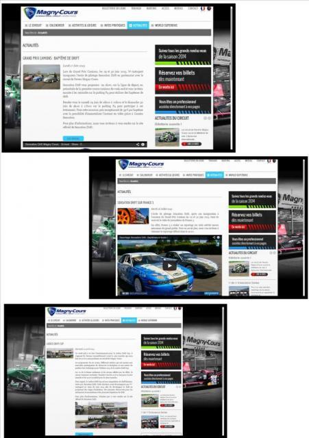 quelques actus sur le site du Circuit de Nevers Magny-Cours