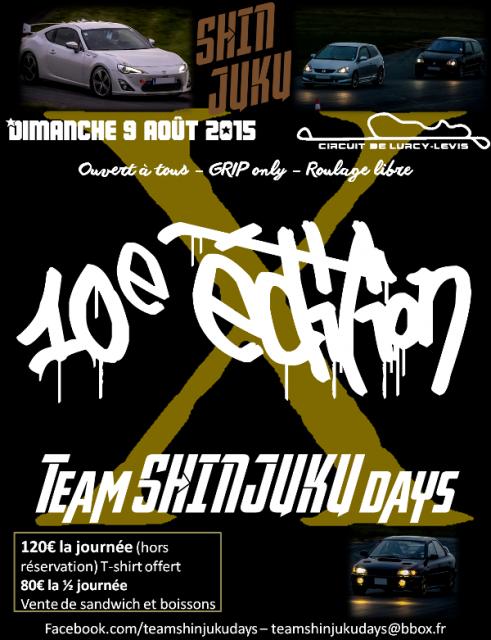 Affiche shinjuku days 2015